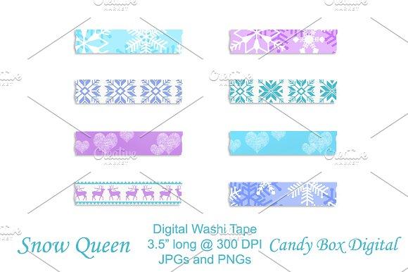 Snow Queen Digital Washi Tape