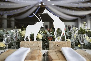 Safari Wedding Centrepiece