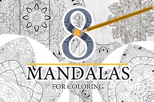 Unusual mandalas for coloring 5