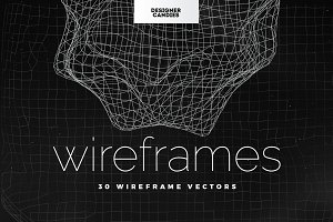 30 Wireframe Vectors
