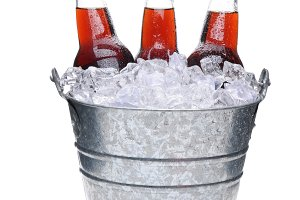 Cola Soda Bottles in Bucket