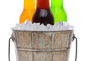 Old Fashioned Bucket With Ice and So