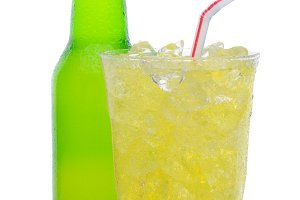 Glass of Lemon Lime Soda with Drinki