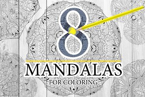 Unusual mandalas for coloring 6
