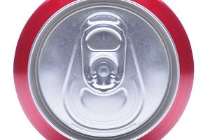 Close Up of Soda Can Top