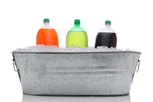 Party Bucket with Soda Bottles