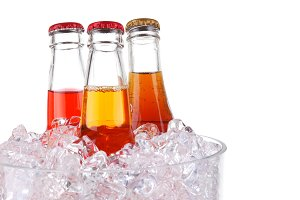 Three Sodas in Ice Bucket