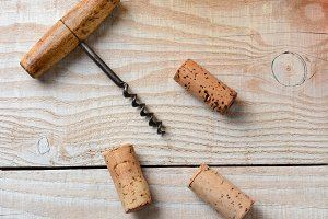 Cork Screw Corks Bottles