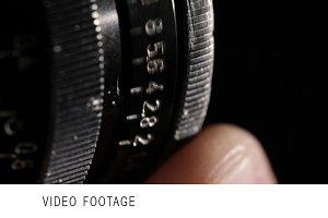 Vintage film lens. Aperture ring.
