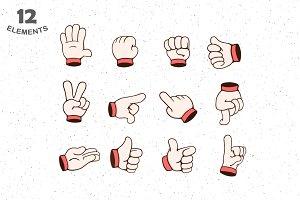 12 Hands Gestures
