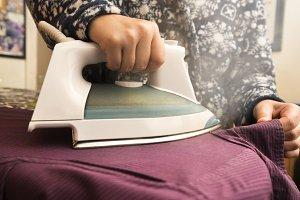 ironing woman