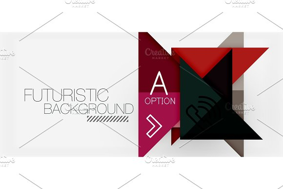 Minimalistic Triangle Modern Banner Design Geometric Abstract Background