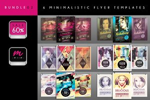 Sale -60% : 6 Flyer Templates Bundle