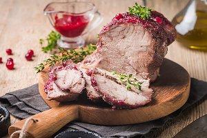 Baked pork meat