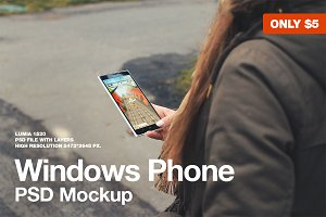 Windows Phone Lumia 1520 Mockup