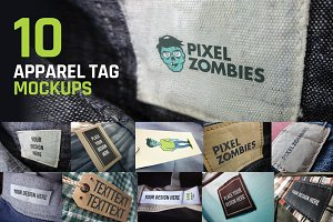 10 Apparel Tag Mockups