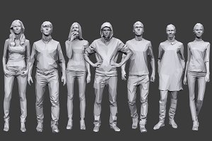 Lowpoly People Casual Pack Vol.12