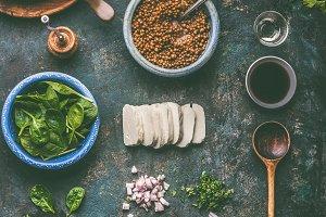 Vegetarian food cooking