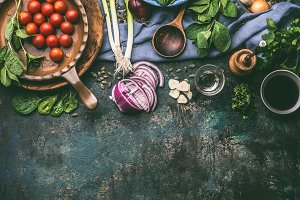 Vegetarian cooking ingredients