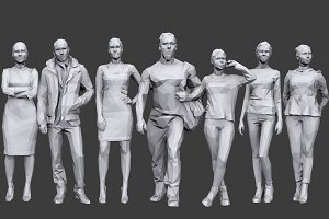 Lowpoly People Casual Pack Vol.13