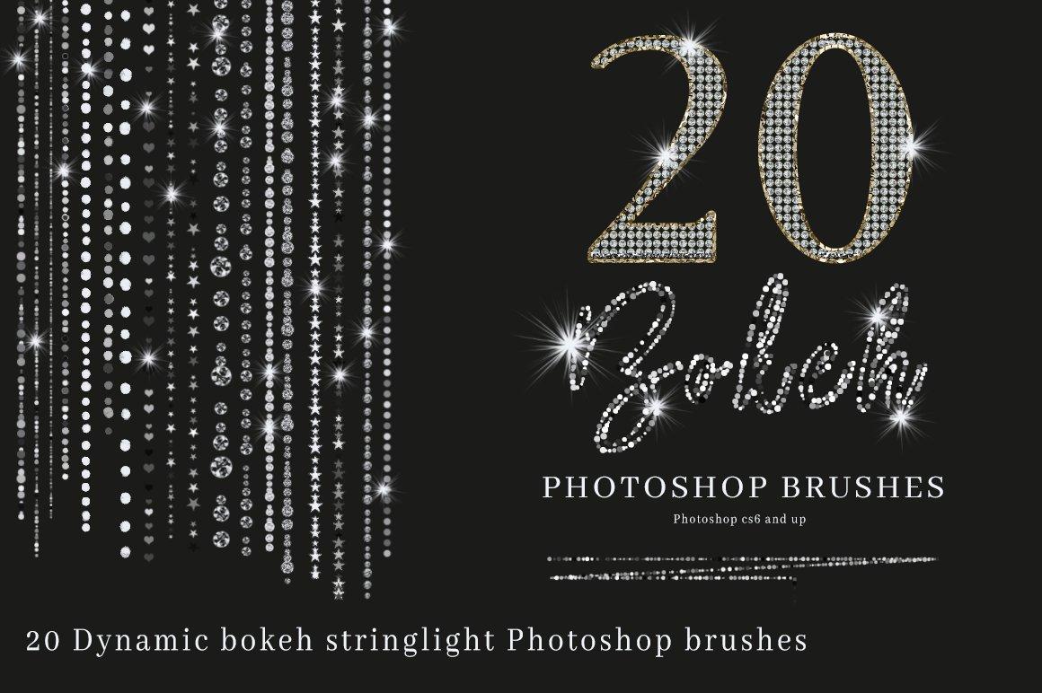 Bokeh Brushes Photoshop bokeh light effects photography | Etsy