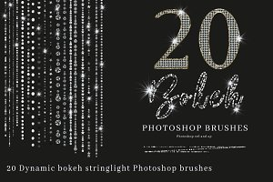 Bokeh String Light Photoshop Brushes