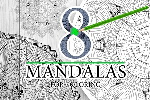 Unusual mandalas for coloring 4