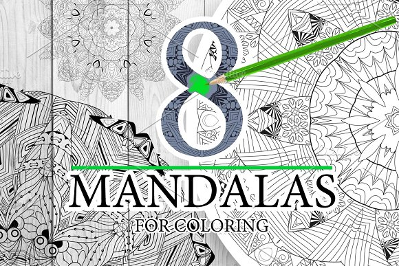 Unusual mandalas for coloring 4