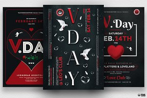 Valentines Day Flyer Bundle V3