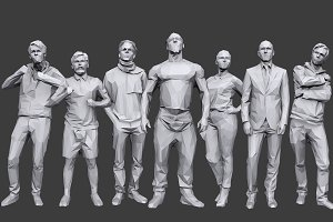 Lowpoly People Casual Pack Vol.14
