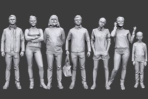 Lowpoly People Casual Pack Vol.16