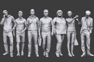 Lowpoly People Casual Pack Vol.17