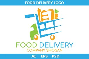 Food Delivery logo. Vector.
