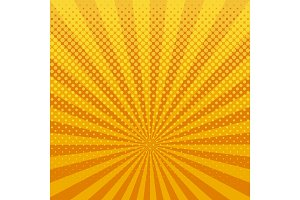 Yellow halftone background vector illustration