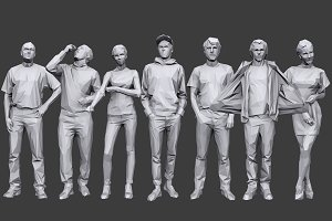 Lowpoly People Casual Pack Vol.19