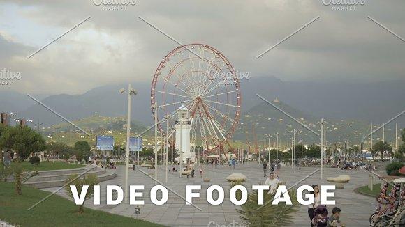 Ferry Wheel On The Square Of Batumi Georgia