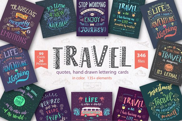 -10%Travel Hand Lettering In Color