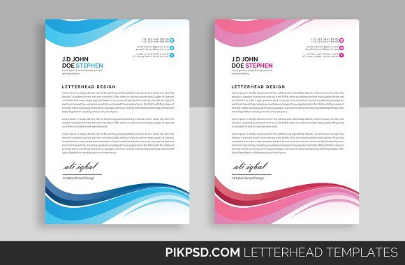 Business letterhead template stationery templates creative market business letterhead template flashek Choice Image