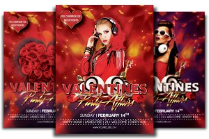 Valentines Affair Flyer Template