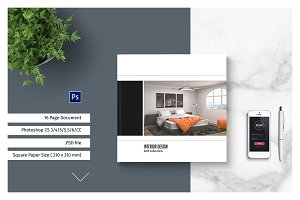 PSD - Square Interior Brochure