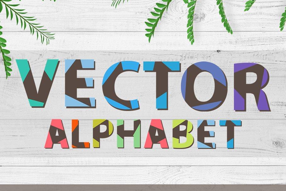 Best Triangular Vector Font Vector