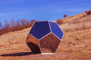Modern glass art.