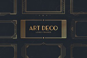 16 Art Deco Logo Frames