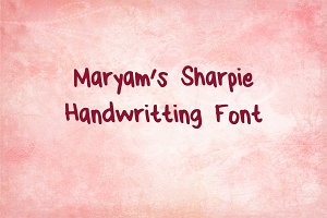 Maryam's Sharpie Handwriting