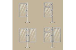 Set of light box templates.