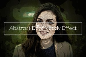 Abstract Dark Muddy Effect
