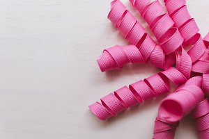Pink Fabric Ribbon