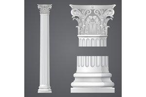 Realistic Corinthian column