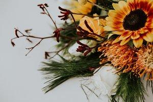 Flower Bouquet, Orange & Red