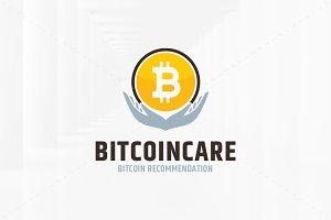 Bitcoin Care Logo Template